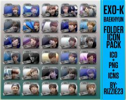Random Pictures of Baekhyun Folder Icon Pack by Rizzie23