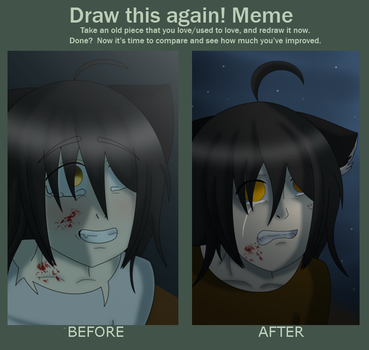 Before and after meme - The End by Jeamesero