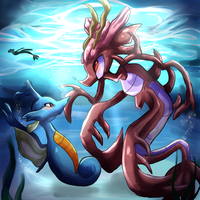 The kingdra and the dragalge