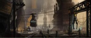 Industrial Trainyard by HalcyonBrush