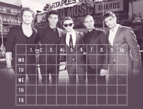 Timetable - The Wanted by Shinny001