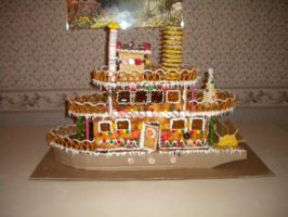 Gingerbread Steamboat by KudTheUntitled