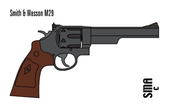 Smith and Wesson M29 by MunkenDronkey