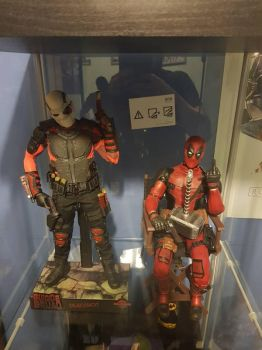 my collection. deadshot and deadpool  by yorkshirepudding1990
