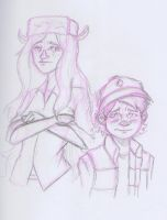 Dipper and Wendy by PrimeGeek