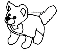 .:FREE TO USE:. Cute Plush Wolf Lineart by TheGhostHuntress