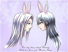 Sketch and Kira for Bunny by sceleratus