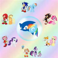 Sonic the Hedgehog and My Little Pony Crossover by Nightfire3024