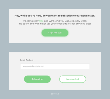 Daily UI #026 - Subscribe by Terrance8d