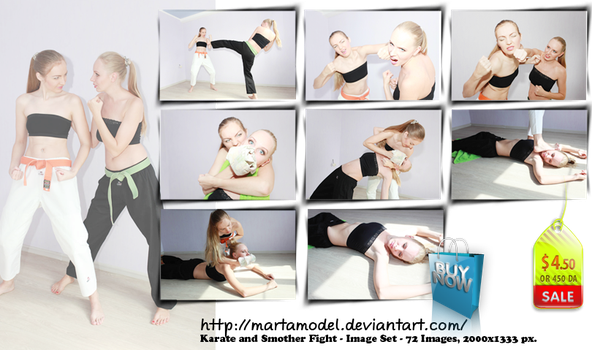 Karate and Smother Fight - Set 72 pics - US 4.50 by MartaModel