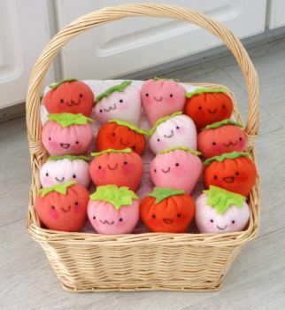 More Strawberry Plushies for the CCFA by FreshCrayons