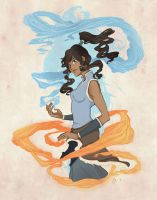 Korra from the Legend of Korra, the last airbender by yienyien