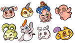 Digimon Stickers by CritterKat