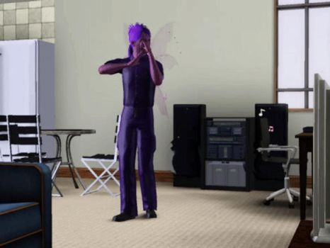 The Sims 3 GIF: Vinny-sim busting moves by SnowxChan
