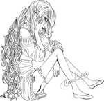 Lillaby - Somber Melody Lineart by ImmediatelyAnnoying