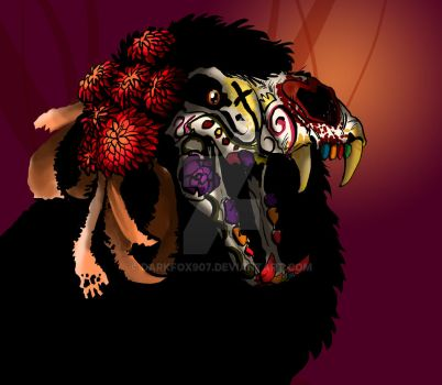 Lion-Day of the Dead by darkfox907