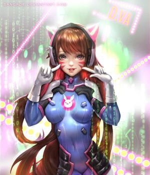 :: D.va (paint over) :: by Sangrde