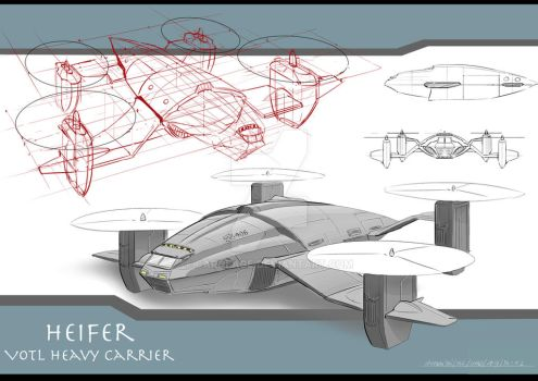 Vehicle Design : Heifer VTOL by Carneage