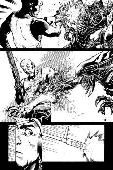 Aliens 3 page 9 by MarkIrwin