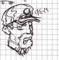 Western Cavalry Sgt. rough sketch by Jeppe Roemer by TolkyJr