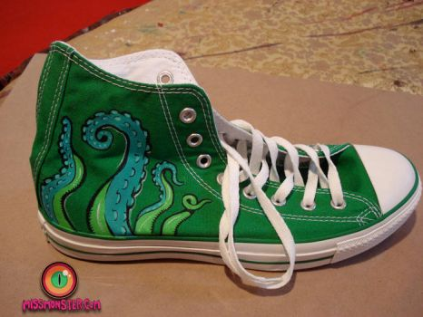 tentacle shoe custom by missmonster