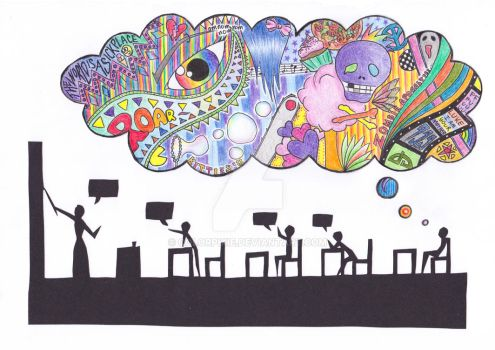 Quiet People Have The Loudest Minds by ColorPixie