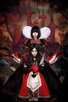 alice and red queen by michivvya