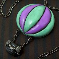 Hot Air Balloon Necklace by beatblack