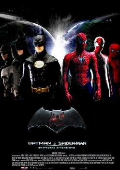Batman and Spider-Man Shattered Dimensions poster by SteveIrwinFan96