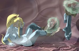 Samus Feet Tickled Final by PawFeather