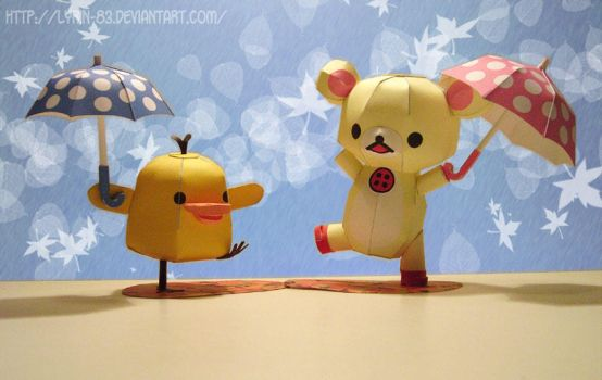Rainy Days - Papercraft by Lyrin-83