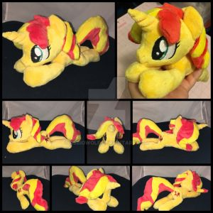 MLP Sunset Shimmer Beanie Plushie by RubioWolf
