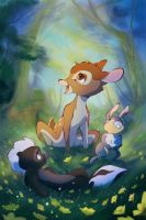 Bambi and friends by 8-bitpunch