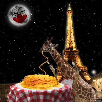 Giraffe eating spaghetti... by Devious-Malcontent