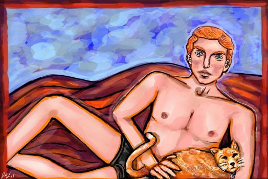 General Hux Pin-up by phantomdeviant
