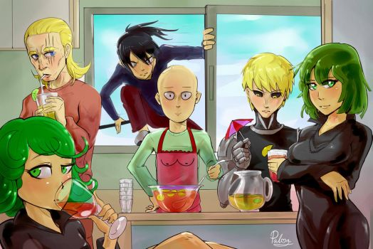 Some punch man by PalmZarel