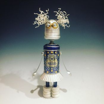 Found object robot assemblage sculpture by adoptabot