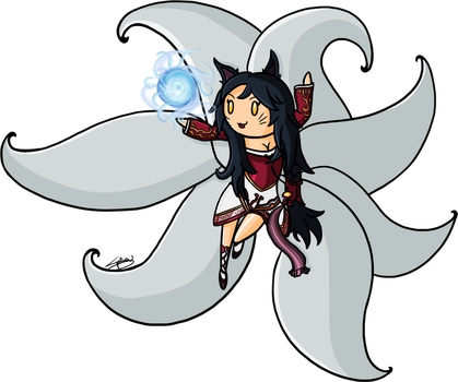 Chibi Ahri by SpinaOscura