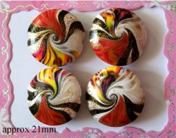 Polymer Clay Beads 61 by snowskin