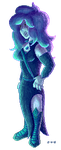 Aquamarine - Fullbody Pixel Commission by J-the-Breathmint