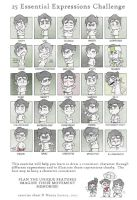 Bolin chibis - 25 Essential Expressions Challenge by silverteahouse