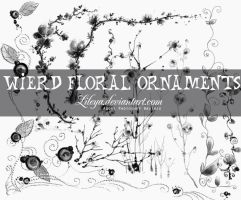 Wierd Floral Ornaments by Lileya