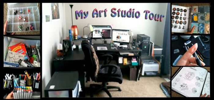 My Art Studio Workspace Video by Sofera