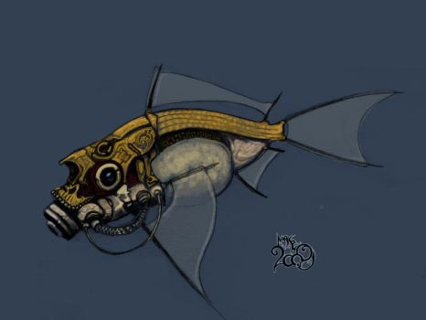 Daily Sketch 09 - 01 : Fish by IndustrusDesign