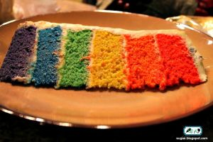 Rainbow Butterfly Cake2 by SugiAi
