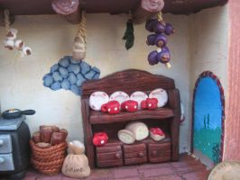 A front view of the kitchen by SelloCreations