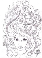 maritime hair tattoo sketch by Nevermore-Ink