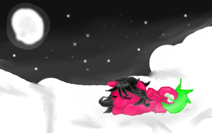 .:Sleeping among the stars:. by FR0STBYTE000
