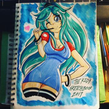 Tiffany Sketchbook Title Page by the-kid36