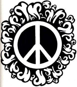 Peace logo -hippiness- by deeplycrashing